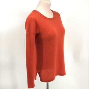 Cashmere Cache 100% Cashmere Sweater Orange Sz S